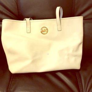 White Michael Kors Tote Bag